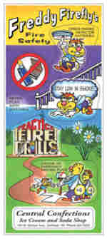 sample of dont play with matches educational stickers freddie firefly