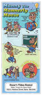 samples of good manners sticker sheet mannerly moose
