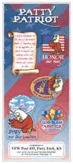 be patriotic with patty patriot educational sticker sheets