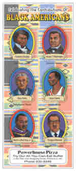 sample of black americans educational sticker sheet